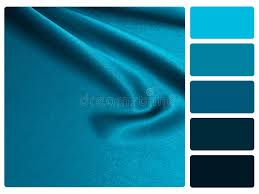 blue swatches blue satin colour palette swatch stock photo image of sle
