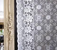 victorianna victorian style cream cotton lace curtain panel