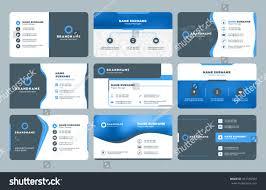 set modern business card print templates stock vector 451565509