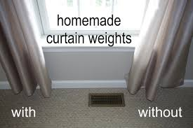 homemade curtain weights what pennies and paperclips can do