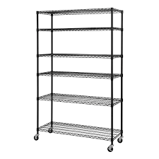 sandusky lee mws481874 b 6 tier wire shelving unit with 3