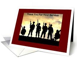 military service thank you card from greeting card universe