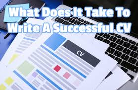 what does it take to write a successful cv new affiliation