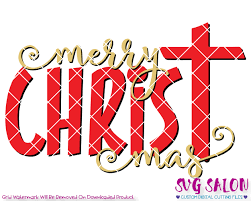 merry cross svg cut file set for christian shirts