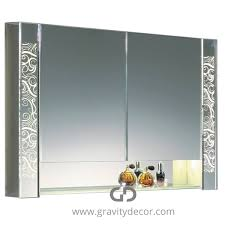the prestige luxurious bathroom mirrored cabinet with led