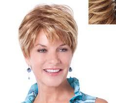 former qvc host with short blonde hair toni brattin prestigious short cut wig page 1 qvc com
