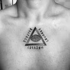 tattoo chest triangle 65 best triangle tattoo designs meanings sacred geometry 2018