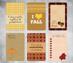 thanksgiving gift tags and fall note cards