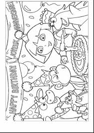 superb happy birthday dora coloring pages with dora coloring page