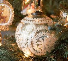 etched mercury glass ornaments silver pottery barn au