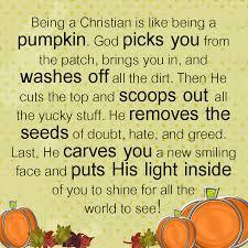 being a christian is like being a pumpkin faith