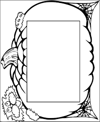 halloween coloring cards tickets frames borders bookmarks