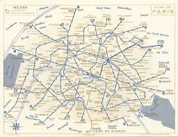 Gold Line Metro Map by Historical Map Paris Metro Map 1956 Transit Transit Maps