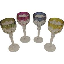 val st lambert crystal wine goblets glasses gonsole osram from