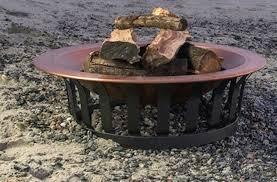 Copper Firepit Titan 40 Solid 100 Copper Pit Bowl Wood Burning Patio Deck