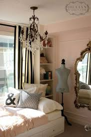 Gold Striped Curtains Black And White Striped Curtains In A Pink Room With Gold