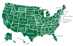 State Map Of United States by The Most Commonly Spoken Language In Each State Besides English