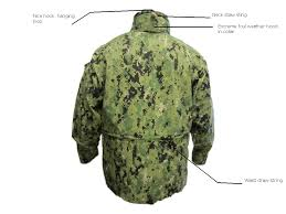u s navy gortex working uniform parka aorii type iii woodland digital