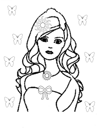 draw print barbis barbie coloring pages