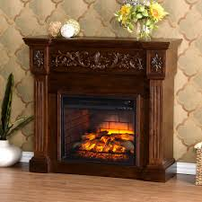 pleasant hearth 20 in electric crackling fireplace logs l 20w