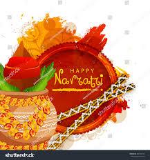 Decorate Dandiya Sticks Home by Vector Illustration Indian Festival Navratri Celebration Stock