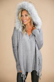 fur sweater bundle up faux fur sweater in grey impressions boutique