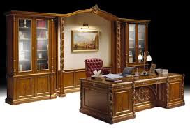 Luxury Office Desk Luxury Classic Office Furniture Inlaid Bookcase And Desk Idfdesign