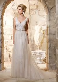 lace and appliques with beading wedding dress style 2780 morilee