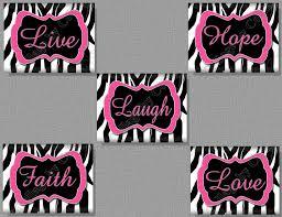 Live Love And Laugh by Furniture Interior Pretty Red Y Black Zebra Print Bedroom On La