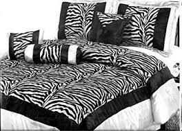 King Size Comforter Amazon Com 7 Piece Zebra King Size Comforter Set Black And