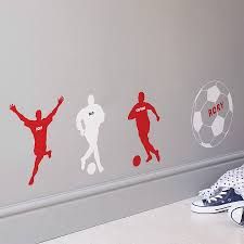 personalised football wall sticker by the bright blue pig personalised football wall sticker