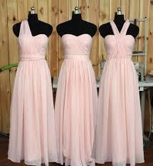 convertible blush bridesmaid dress wedding party dress formal
