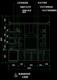 minimalist kitchen interior design drawings autocad drawing