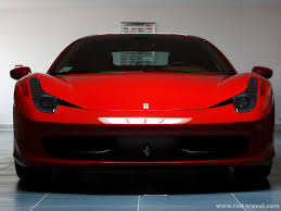 Ferrari 458 Red - 458 italia front view light and shade
