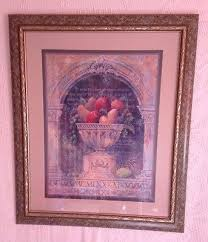 woods vintage home interiors vintage home interiors 34 x 28 vase and fruit picture signed d