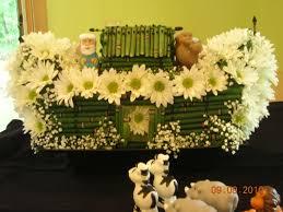 noah u0027s ark baby shower centerpiece flower arrangements