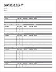 Workout Excel Template 4 Sle Workout Schedule 4 Documents In Excel Pdf
