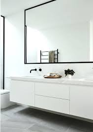 Bathroom Mirrors Brushed Nickel Metal Framed Bathroom Mirrors Mirror Brushed Nickel In Black For