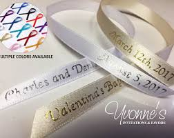 personalized ribbon for favors personalized ribbon etsy