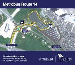 Metro Bus Routes Map by Public Transportation St John U0027s International Airport