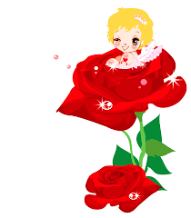 valentines cute cupid and rose png clipart picture clip art library