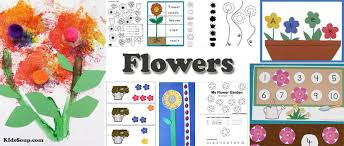 preschool flowers activities crafts and printables kidssoup