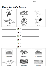 animal habitats coloring animal habitats habitats and worksheets