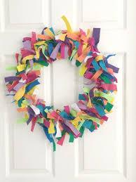 colorful felt wreath