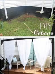 Cabana Curtains Diy Backyard Canopies Home Outdoor Decoration