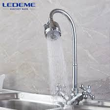 Kitchen Faucet Outlet Ledeme Kitchen Faucet Dual Holder And Two Kinds Of Water Way