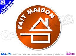 fait maison cuisine vente autocollant logo fait maison sticker quicom loostick fr