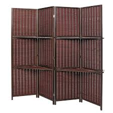custom room dividers amazon com deluxe woven brown bamboo 4 panel folding room divider