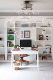 Ikea Home by Office Makeover Reveal Ikea Hack Built In Billy Bookcases