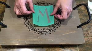 monogrammed serving tray chalk couture monogram on serving tray